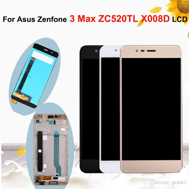 5.2''Original LCD Display For Asus Zenfone 3 Max ZC520TL X008D LCD Display Glass Touch Screen Digitizer Assembly with Frame