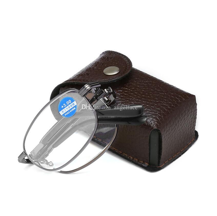Taşınabilir Unisex Katlama Okuma Gözlüğü Gözlük ile Vaka 1,5 2,0 2,5 1,0 3,0 3,5 4,0 Kadınlar Erkekler Gözlük Ücretsiz Kargo