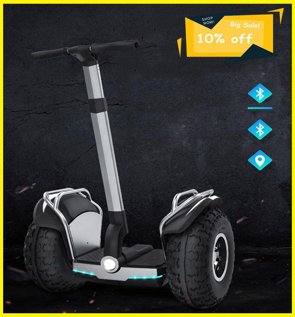 2020 neue leistungsfähige elektrische segway bluetooth Roller Zwei Räder Double Driver 60V 2400W Off Road Big Tire Erwachsene Hoverboard Scooter