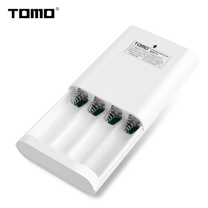 Consumer Electronics TOMO P4 lithium battery charger for 18650 power bank case LCD display intelligent flash indicator light