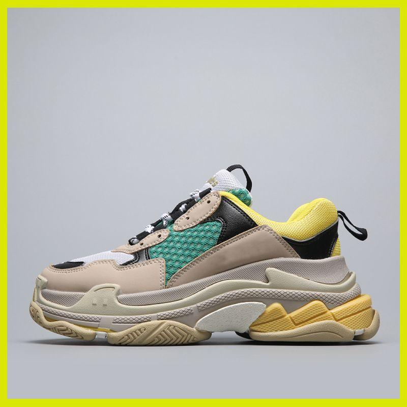 Diseñador de zapatillas de deporte, mujeres, hombres baratos París Crystal papá de fondo zapatos de lujo Triple S 17FW vendimia viejo abuelo Trainer alta calidad