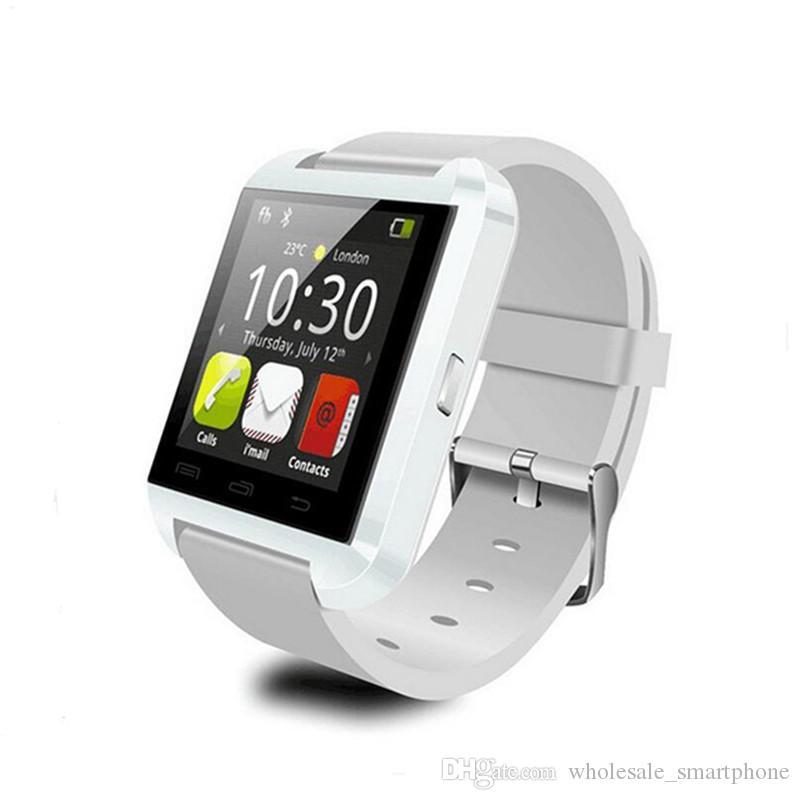 الأصلي U8 الذكية ووتش بلوتوث الإلكترونية الذكية ساعة اليد اللياقة البدنية تعقب سوار ذكي لابل IOS ووتش الروبوت الهاتف ووتش