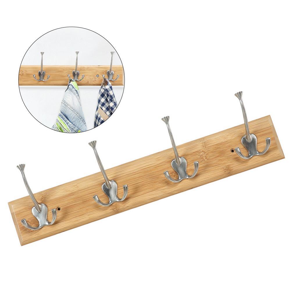 Decoração De Armazenamento Multifuncional Gancho De Roupas Em Casa Fácil Instalar Cozinha Acessórios de Base De Madeira Porta de Volta Cabide Rack Chapéu Do Banheiro