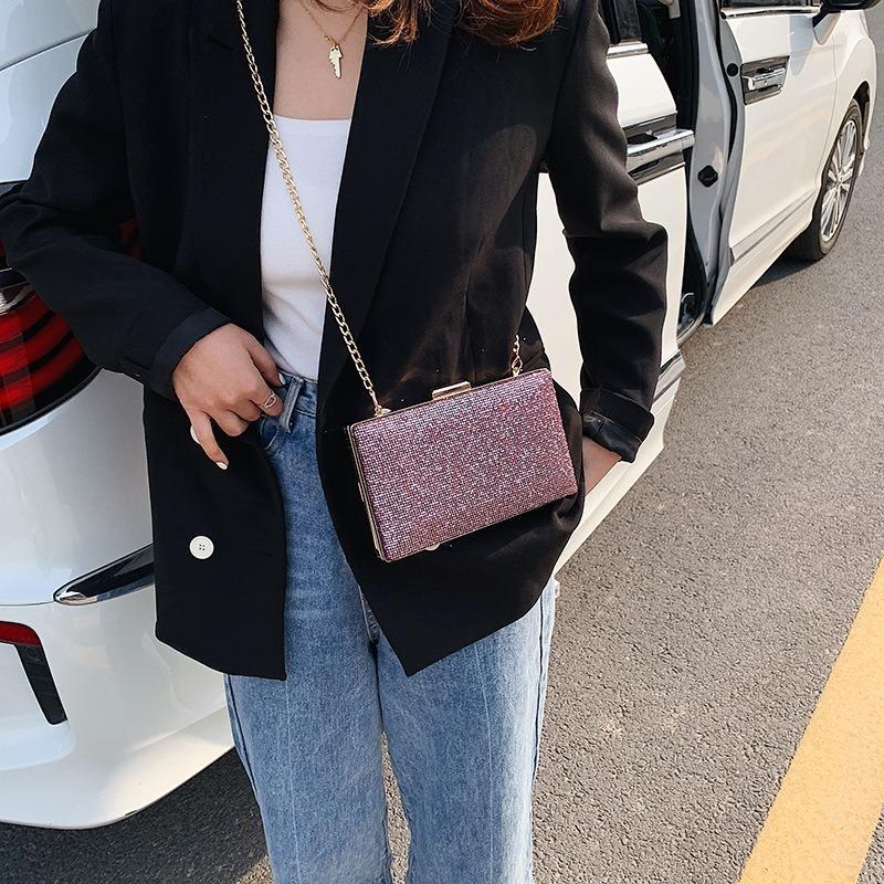 2020 novos jantar saco de moda senhoras brilhantes das mulheres embreagem versão saco coreana de simples jantar senhoras