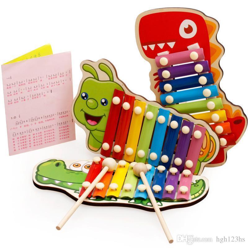 طفل طفل الموسيقية ألعاب خشبية زيلوفون صك للأطفال في وقت مبكر الحكمة التنمية لعب التعليم لعب الاطفال