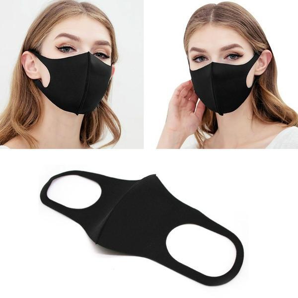 Unisexe éponge anti-poussière PM2,5 pollution moitié visage bouche Masque Breath large sangles lavable réutilisable