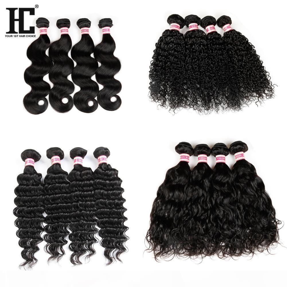 C peruana extensões de cabelo humano 100% brasileira não processado Virgin Remy cabelo 100g Pacotes cabelo grosso grosso Preço HC produtos