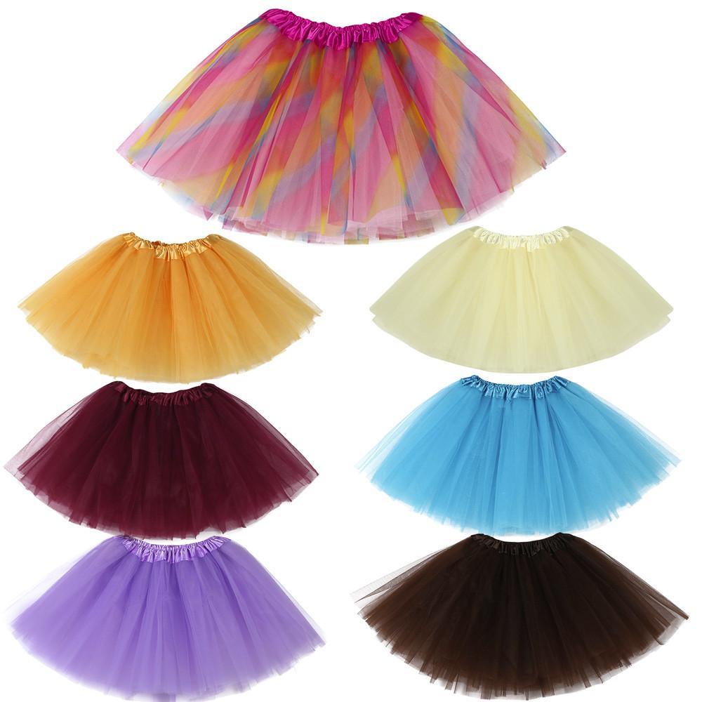 2019 alta calidad linda falda tutú de los bebés de los niños tutú de ballet sólido de lujo del partido Faldas la falda del acoplamiento ropa de los niños del verano