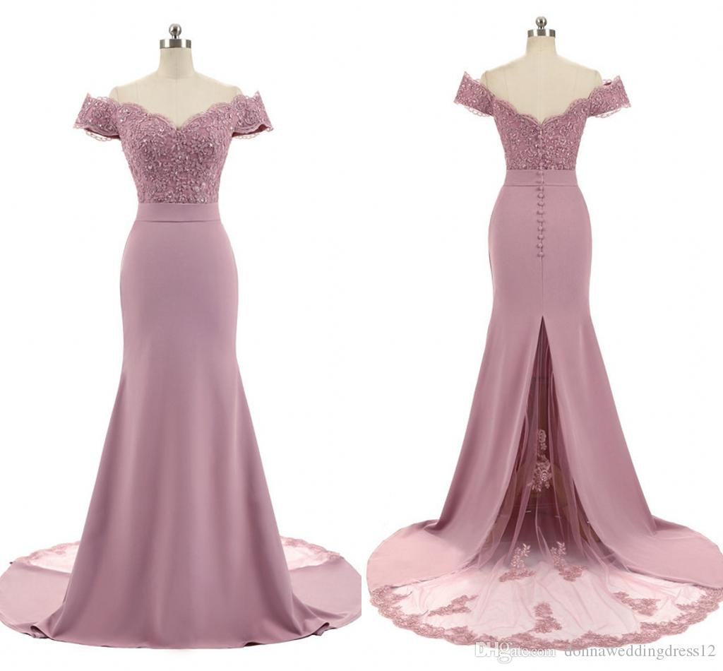 2019 New Long Evening Dresses Robe De Soiree Burgundy/Pink Prom Party Gowns Real Photo Mermaid Formal Evening Gowns Vestido De Festa