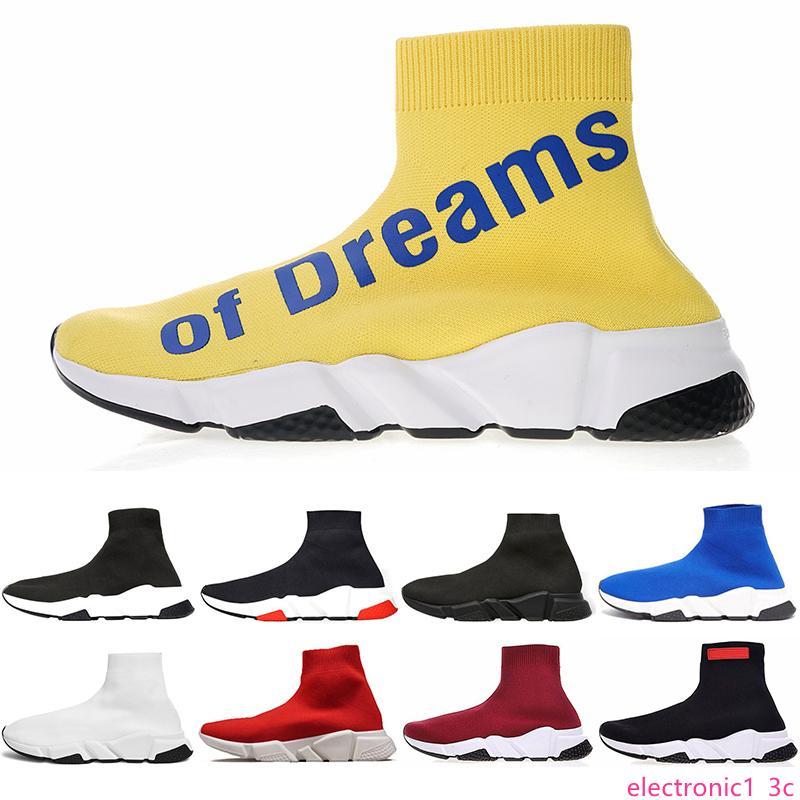 Дизайнерские носки Сила мечты тапок женщин моды обувь черный белый красный розовый плоские мужские Кроссовки Runner случайный обуви
