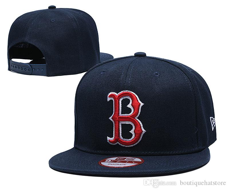 جديد الرجال الكلاسيكية البحرية الأزرق اللون ريد سوكس snapback القبعات إلكتروني b فريق شعار التطريز الرياضية للتعديل الصيف قبعات خمر mn البيسبول