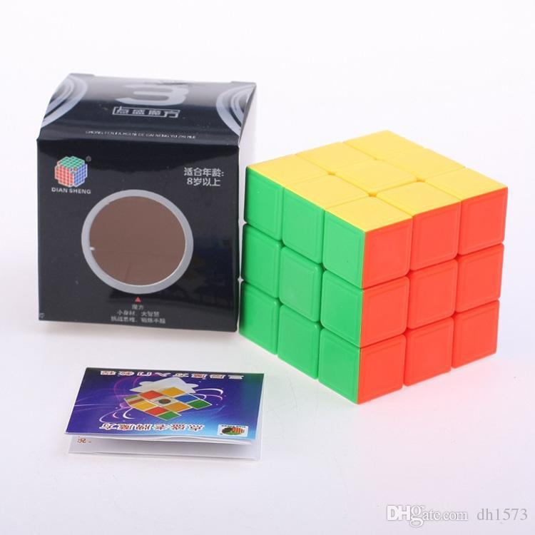 Magic Cube Speed Twist Puzzle 3x3x3 Original Rubiks Brain Teaser Games Kids Toys