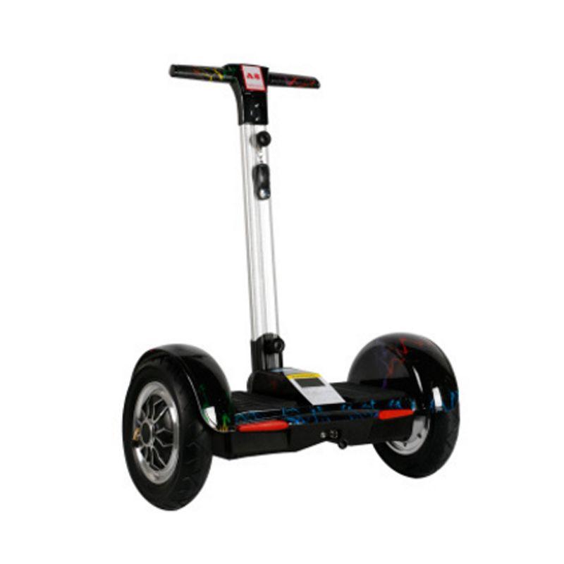 zwei Räder Intelligente selbstausgleich Roller hoverboard mit Griff Mobile APP Bluetooth Roller 10-Zoll-Elektro-Smart Skateboard
