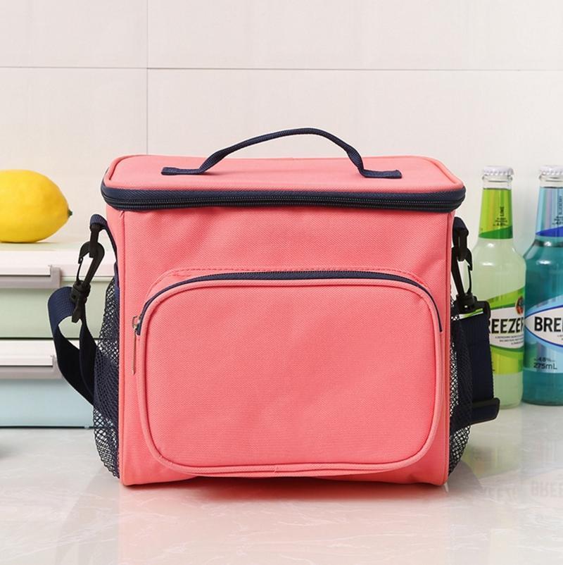 حقائب الغداء مزدوجة العزل [لونشبوإكس] قماش الغذاء نزهة حقيبة تبريد الغداء مربع المحمولة برودة حمل 4 ألوان بالجملة WZW-YW3895