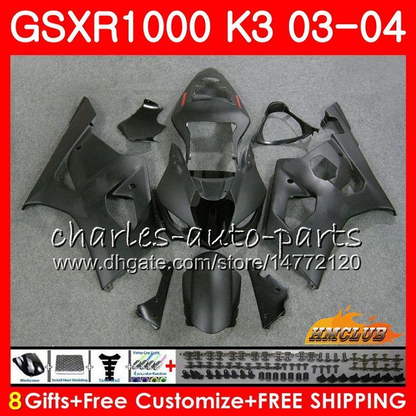 Rama dla SUZUKI GSX-R1000 GSXR 1000 GSXR1000 Matte Black 03 04 Body 15HC.97 Nadwozie GSX R1000 K3 GSXR-1000 03 04 2003 2004 Zestaw zwłok