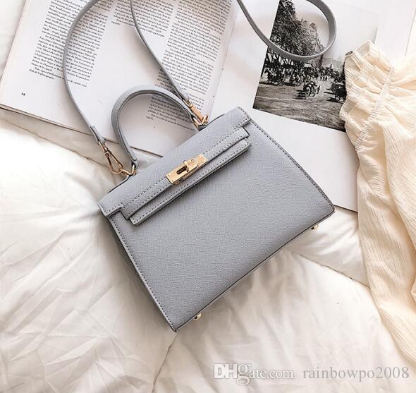 wholesale brand women handbags elegant atmosphere handprint handbag Joker solid color women handbags buckle decorative fashion Messenger bag
