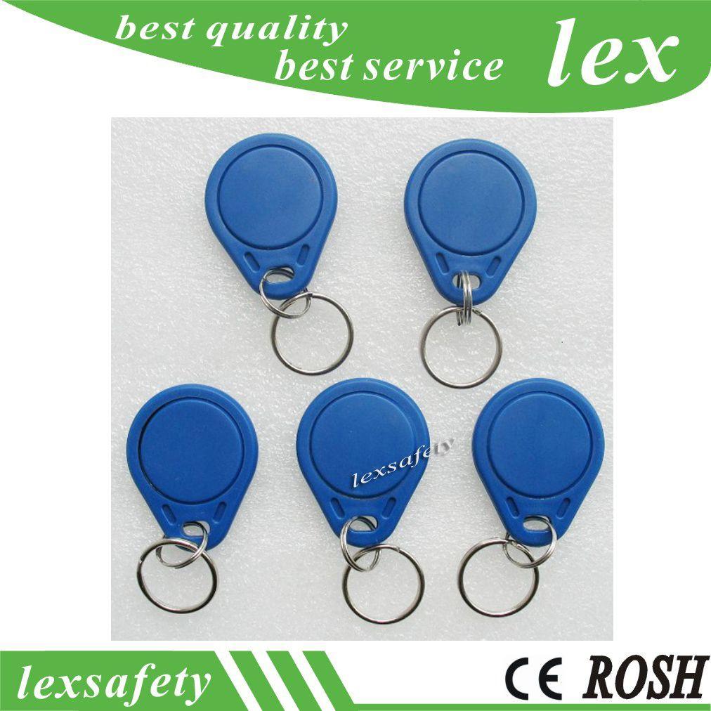 100pcs cartes clés ISO11785 Tk4100 / EM4100 125kHz tag clé en plastique cartes personnalisées Tags RFID contrôle d'accès Fobs