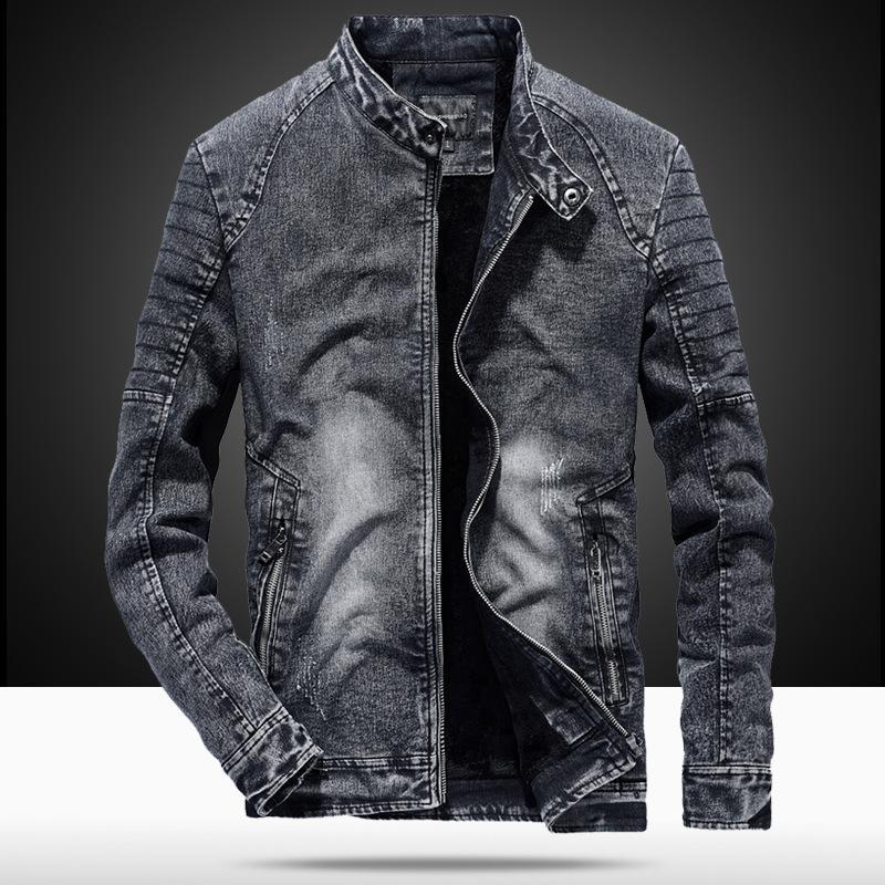 Мужские куртки Урожай Джинсовые Мужчины Slim Fit Сплошной Цвет Случайные Мужские Джинсы Пальто 2021 Мода Одежда для Черного / Синего