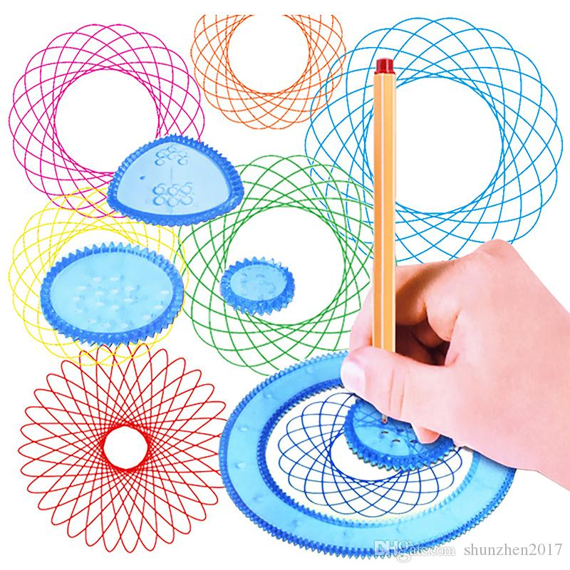 السحر البياني متعدد الوظائف زهرة حاكم طالب فن الرسم لعبة تعلم الأطفال قالب الكرتون تعيين القرطاسية