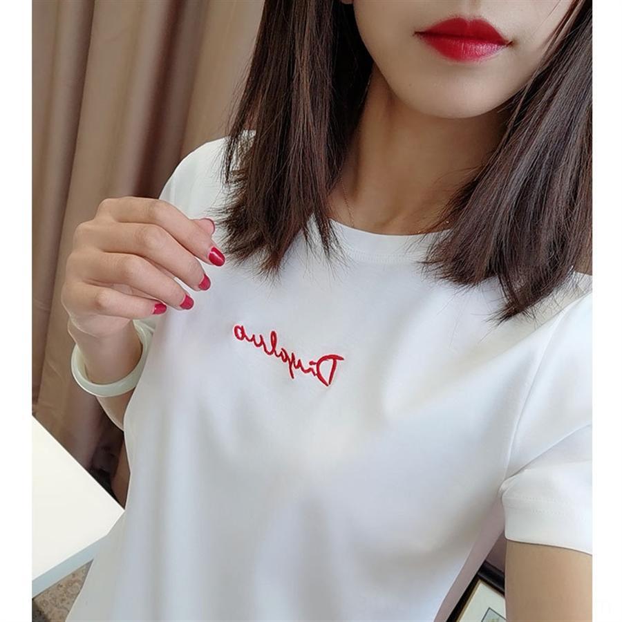 Üretim tişört, yüksek kaliteli yazmak nakış 80 yüksek yoğunluklu çift merserize pamuk yuvarlak yaka kısa kollu bir merserize işlemeli