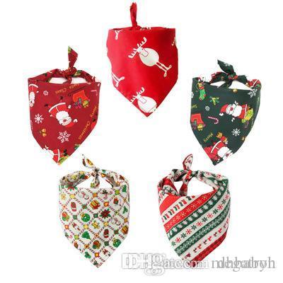Natale gatto cane bandana bavaglini sciarpa Collare Bandana sciarpa della saliva impermeabile del tovagliolo per Medium Large Accessori Cani