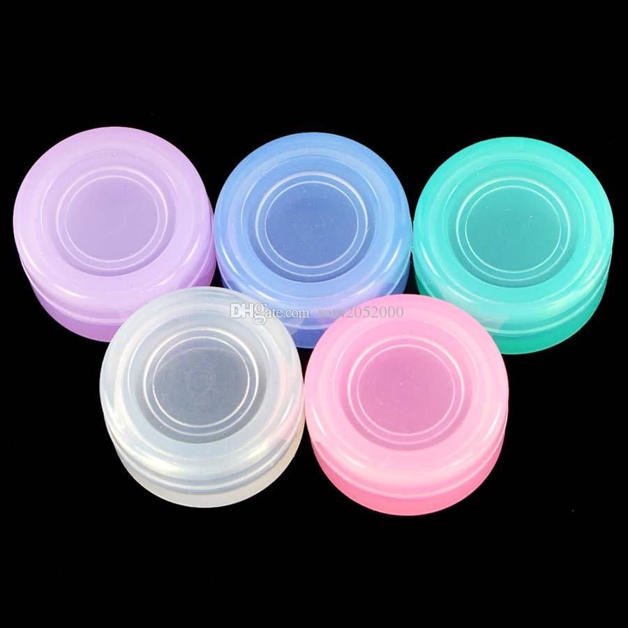 High Clear 5ML Marque nouveau Vente Hot pot de stockage de silicone, réservoir d'huile de silicone pots de silicone contenant dab de cire
