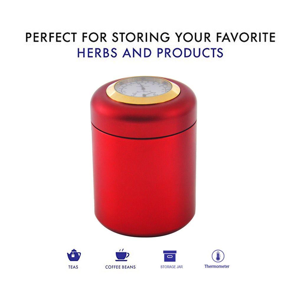 새로운 에어 공예 알루미늄 금속 저장 튜샷 항아리 온도계 습도계 밀폐 방지 저장 용기 알루미늄 담배 약 상자 케이스 병