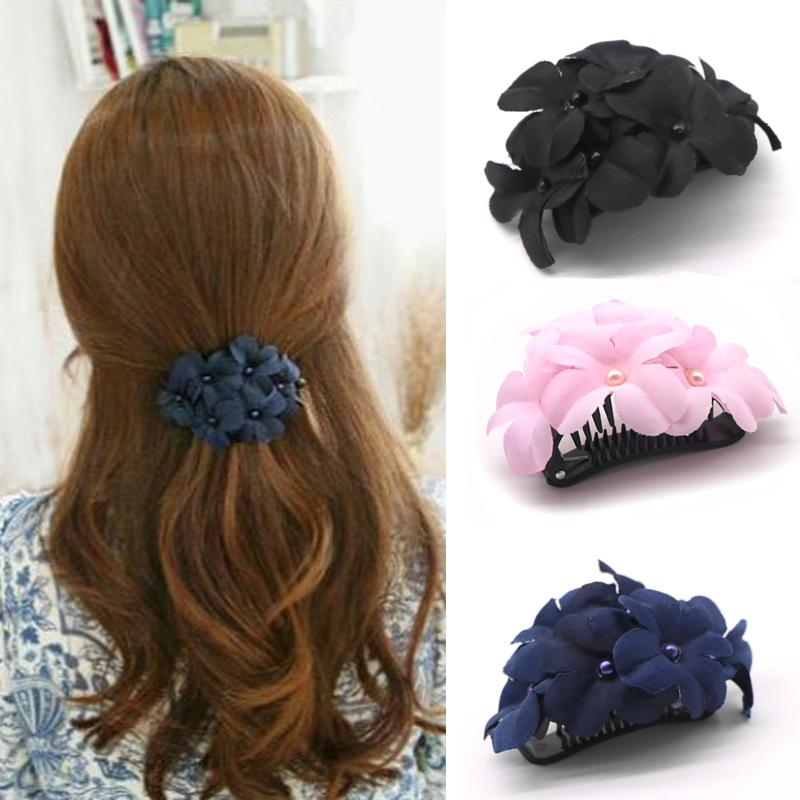 1pcs Flower for Women Plastic Hairpins Barrettes Fashion Accessories Hair Pins and Clips Floral Hairdresser Tool C19010501