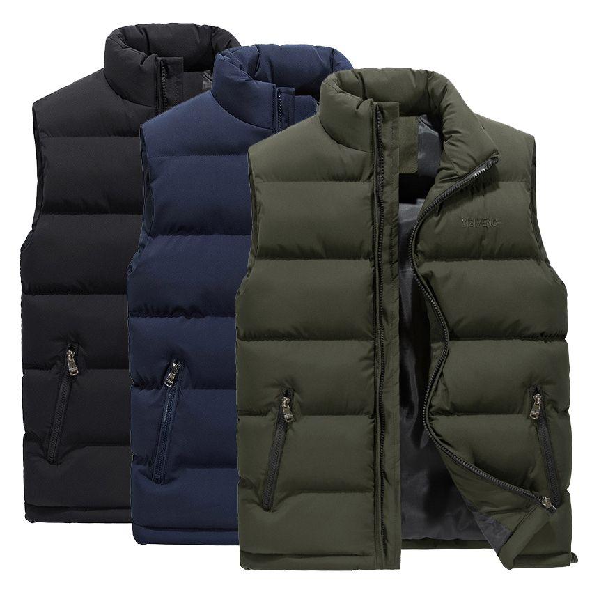 2019 новый мужской жилет зима свободного покроя без рукавов куртка пуховик ветрозащитный теплый жилет случайные пальто плюс размер M-6XL человек