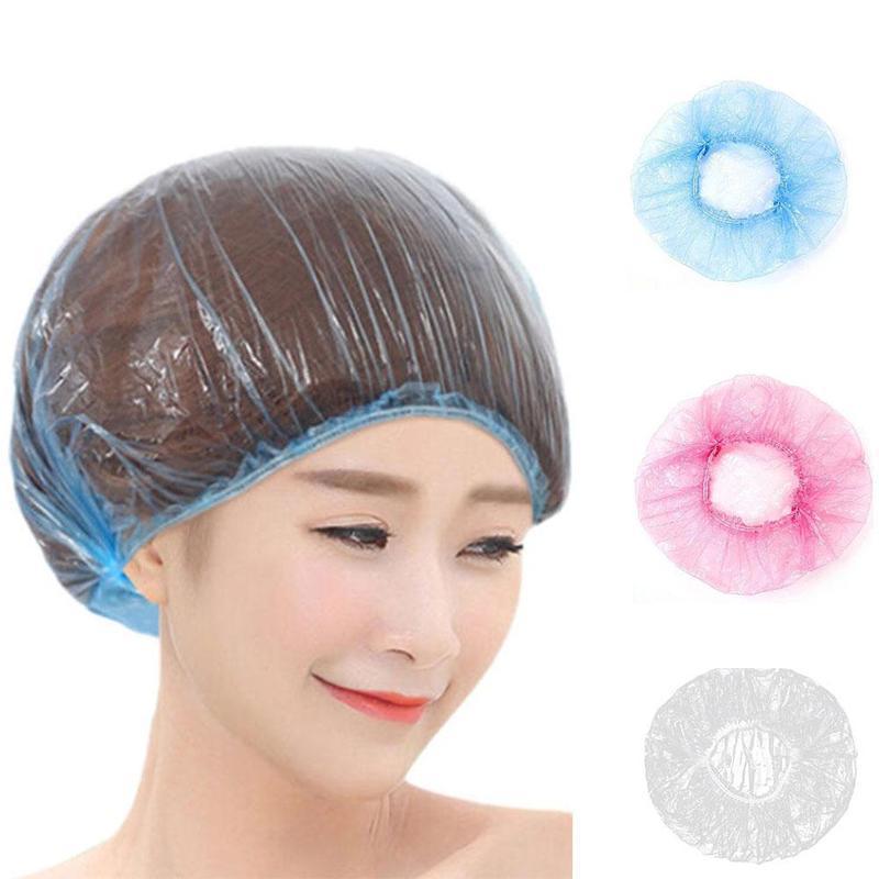 100pcs / lot cascos desechables a prueba de polvo de una sola vez de elástico a prueba de polvo del casquillo del sombrero del salón de belleza del hotel de suministros de limpieza del envío de DHL