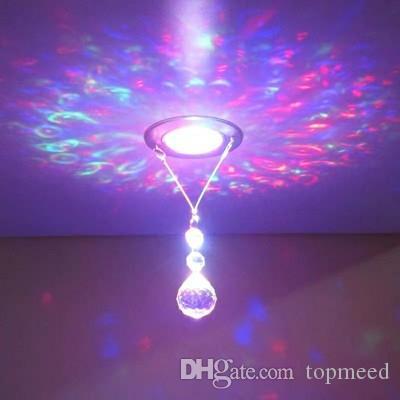 Lampadina moderna in cristallo con lampadario a sospensione contenente lampadari a LED a lustro, lampadari per camera da letto per tensione 90-260V