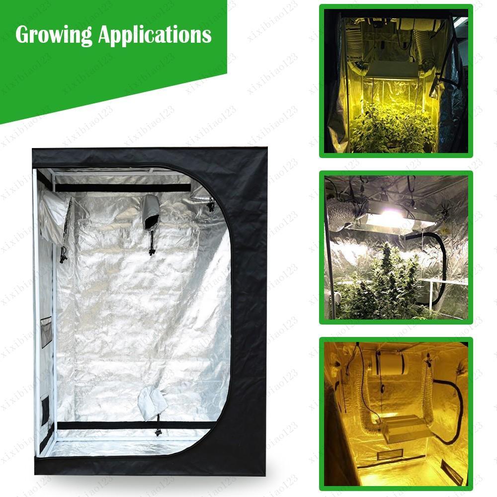 600D는 천막 공장 텐트 50 / 80분의 60 / 100 / 150분의 120 / 240cm 무료 배송 조명 텐트 실내 성장 상자 수경 성장 룸 온실 식물 성장