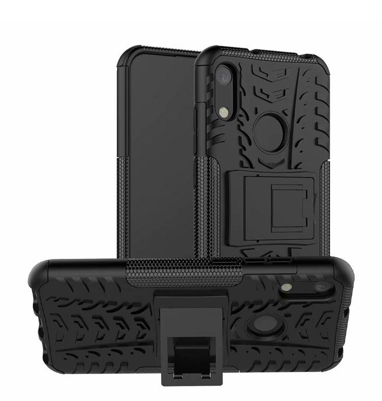 TPU + PC per Huawei Honor 8A Custodia rigida resistente agli urti Resistente agli urti Custodia protettiva rigida in gomma siliconica per Honor 8A