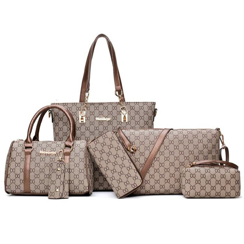 Sugao rose 5 couleurs treillis 6pcs / set sac à main de mode Cils designer sacs à main sac fourre-tout sac à bandoulière sac bandoulière sac à bandoulière femme 19ss