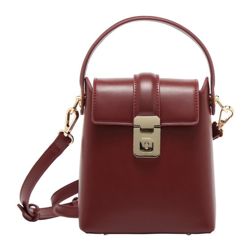 Женская роскошная дизайнерская сумка сумки маленькая квадратная сумка коробка пакет Дикий Джокер одно плечо косой пролет гладкое текстурированное дно заклепки 2