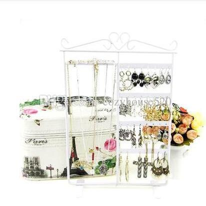 32 hole Jewelry Display Stand Holder Earring Display Stand Iron Wall Frame Necklace Holder Accessories Base Storage Dro 1pc C172