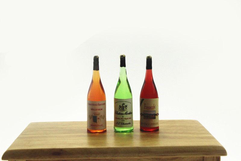 1: 6 Escala Champagne Vino tinto Bebida Casa de muñecas Juguete en miniatura Muñeca Comida Cocina Accesorios para el salón