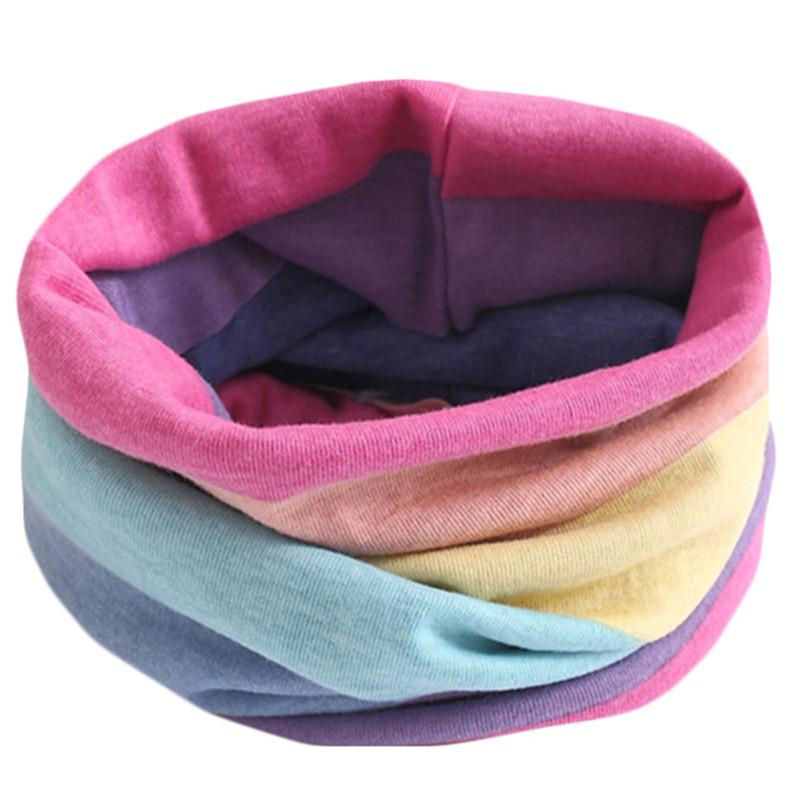 Spring Autumn Winter Children Cotton Scarf For 0-10 Years Old Kids Boy Girl Neck Collar Baby Cartoon Scarves Fashion Warm Collar