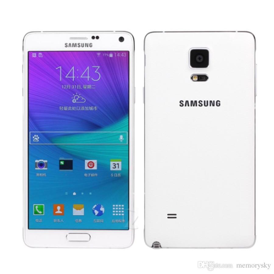 Восстановленное в Исходном Samsung Galaxy Note 4 N910A 5,7-дюймовый Quad Core 3 ГБ RAM 32 ГБ ROM 16MP 4 Г LTE Телефон