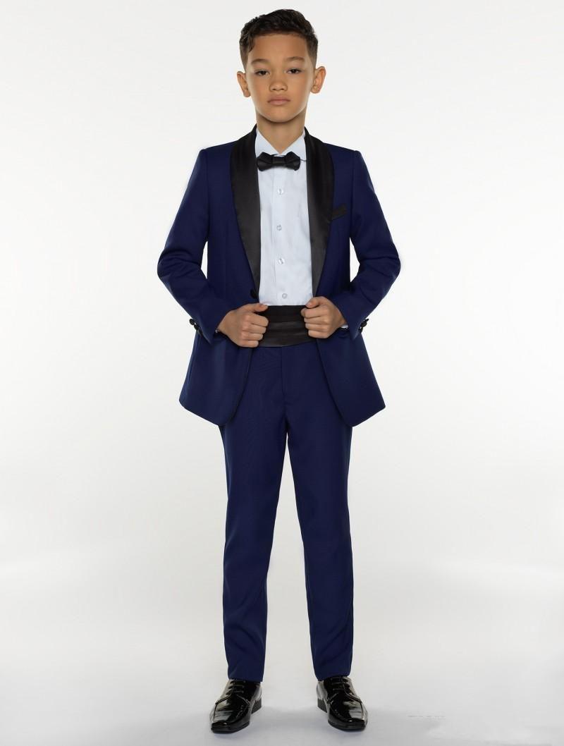 الدعاوى الجديدة بوي الرسمية البدلة البحرية اطفال للحدث الزفاف (سترة + سروال + حزام + قميص + ربطة الانحناءة) حلقة بوي البدلات الرسمية لحفل زفاف