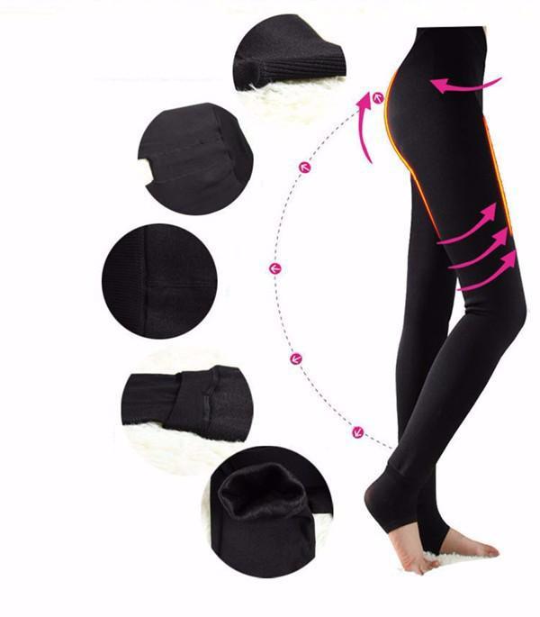 High Elastic Waist Winter Plus Velvet Thicken Women 'S Leggings Warm Pants Good Quality Cashmere Thick Trousers Female Wholesale