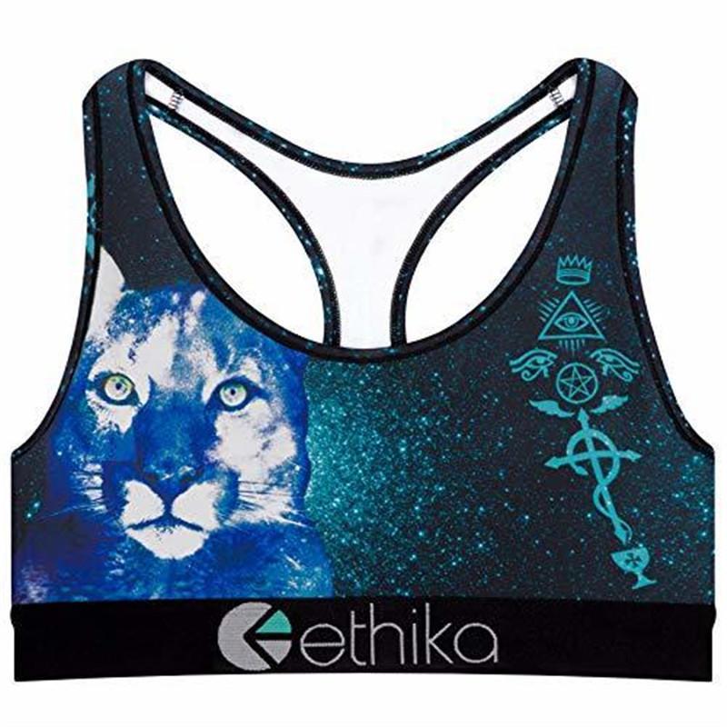 Ethika Swimsuit Womens Bra Biquíni Conjunto Shorts Maiôs Animal Print Animal Dos Desenhos Animados Cão Leão Tigre Beachwear Designer Colete Swimwear C6304