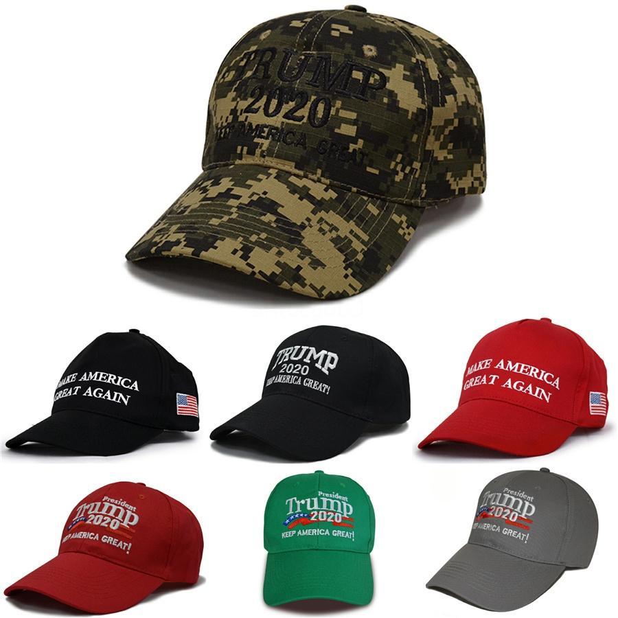 5 цветов сделать Америка Великий снова Cap Дональд Трамп 2020 Hat 3D вышивки Камуфляж шапки Спортивные бейсболки Регулируемая Snapback Мужчины M1 # 23