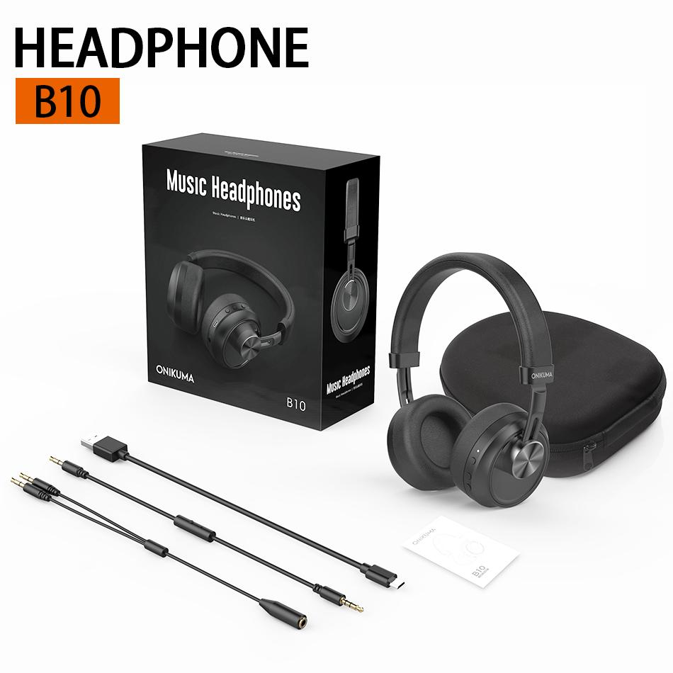 Portable B10 Music Bluetooth Wireless Headphones With Mic Hifi Surround Sound Noise Canceling Earphones For Phone Pc Tablet In Retail Box Cell Phone Bluetooth Headset Wireless Headphones For Phone From Superfast 24 61