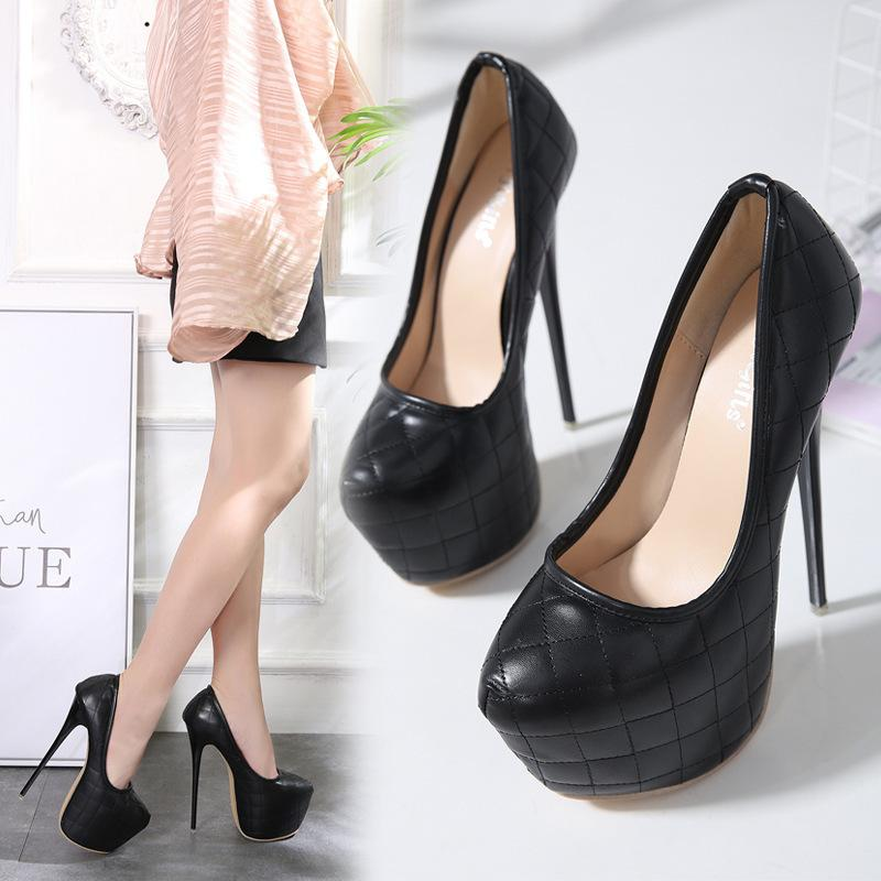 Hot2019 Payment Early Spiraea Single Shoe Comfortable 16 Centimeter High-heeled Shoes Yes Do 40