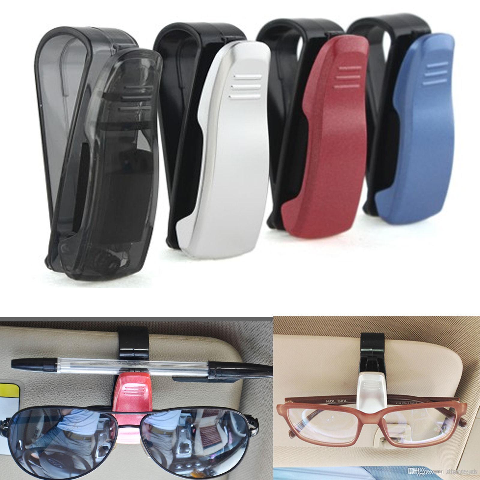 Солнцезащитные очки Клип очки автомобилей Билеты держатель автомобиля карты Квитанция Солнцезащитный козырек Маунт Солнцезащитный козырек Маунт Eyeglass клип 4Colors FFA121