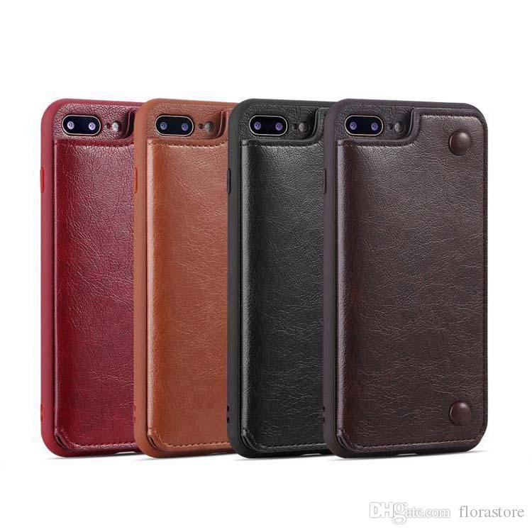 Portafoglio PU Custodie in pelle PU Custodie per flip card tascabile custodia per cellulare per iPhone 7 xr x max 11 con slot carte di credito