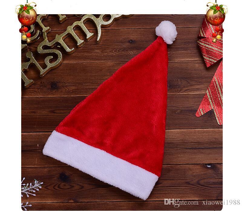 Nuevos suministros para festivales peludos para adultos y niños Sombreros de Navidad no tejidos al por mayor