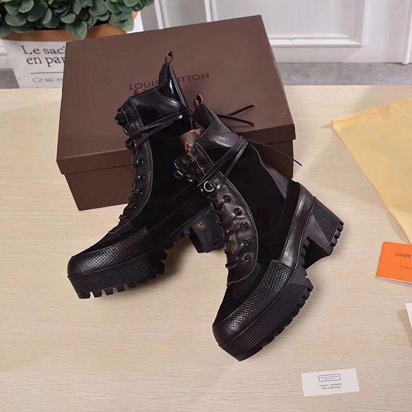Top Quality Designers Women Shoes Womens Boots Brand Fashion Luxury Designers Women black Medium high heel patent leather boot no box 2o
