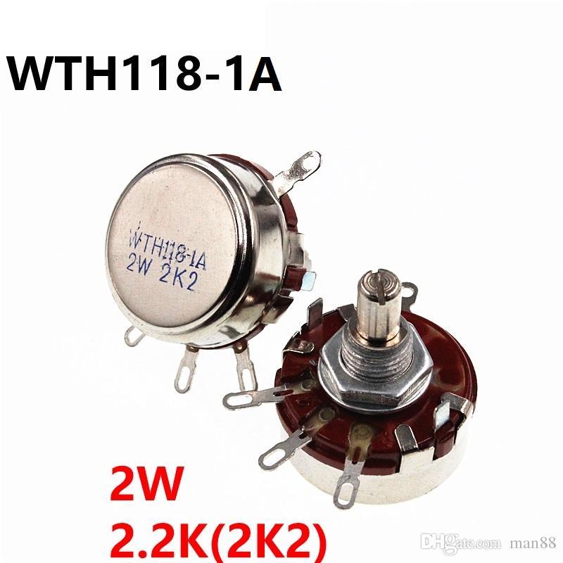 WTH118 2W 2.2K single turn carbon film potentiometer